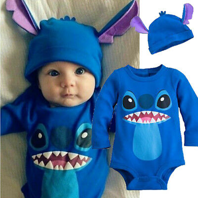 Halloween Newborn Baby Boys Girls Outfit Clothes Romper Jumpsuit Bodysuit Hat UK