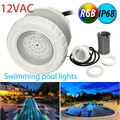 LED Swimming Pool Underwater Light Spa RGB Color For 2'' Wall Fittings 12V IP68