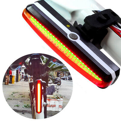 Ultra Bright Bike Light USB Rechargeable Bicycle Tail Lights Rear LED Flashlight