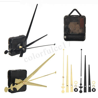 Silent Replacement DIY Quartz Clock Movement Mechanism Motor Repair Hands Kit UK