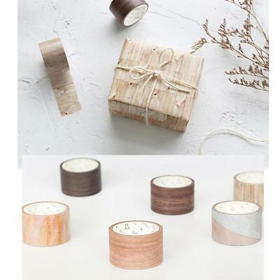 7M DIY Wood Color Washi Sticker Deco Roll Paper Masking Adhesive Tape CraP