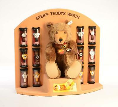 STEIFF TEDDY WATCH DISPLAY Bär 13 Uhren Limited Edition 1991 im OVP