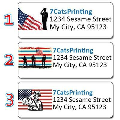 30 Support Our Troops Personalized Return Address Labels Army