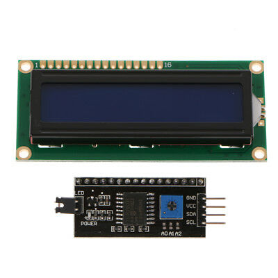 LCD1602 16x2 Character LCD Display Module LCM White on Blue Backlight