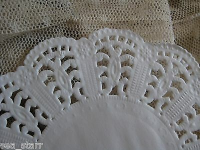 """25 pcs ❤ 4"""" INCH WHITE SCALLOP PAPER LACE DOILY ROUND CARDS CRAFTS STAMPING"""