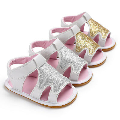 ND_ NE_ Infant Toddler Summer Sandals Footwear Baby Girl Soft Sole Low Tube Sh