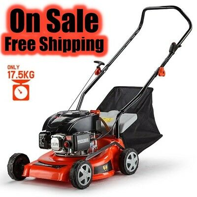 "BRAND NEW 139CC Lawn mower 4 Stroke Engine 16"" 5HP Petrol Pull Push Lawn mower"