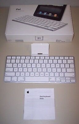 Apple iPad Keyboard Dock A1359 MC533LL/B for 1st 2nd 3rd Generation 30 Pin