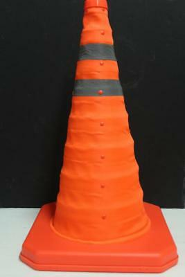 "NEW! 28"" Collapsible LIGHTED Safety Cones Portable Traffic Emergency Cone"