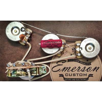 Emerson Custom S5-250K Strat 5-Way Pre-Wired Kit (250K Ohm Pots & 0.047uf Capaci