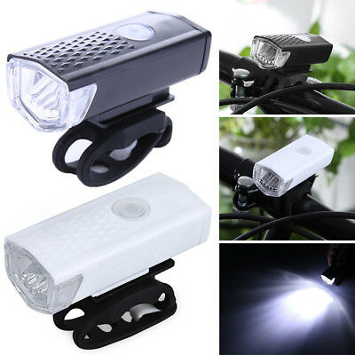 Bicycle headlight Waterproof USB Rechargeable LED Lights Bike Head Front New