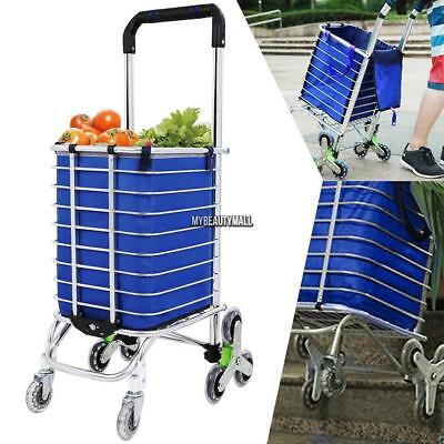 8 Wheel Foldable Shopping Trolley Cart | Folding Portable Wheeled With Handle