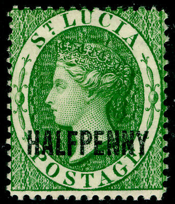 ST. LUCIA SG25, ½d green, M MINT. Cat £30.