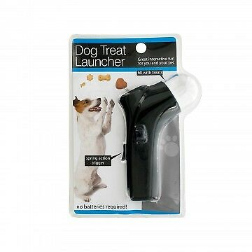 Dog Cat Treat Launcher Pet Interactive Fun Snacks Food Shooter Training Toy NEW