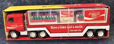 Vintage 1979 -  Buddy L Coke Truck Trailer Mack Mib Never Used Bottles