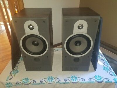 Vintage Pair Of BW Bowers Wilkins Bookshelf Speakers