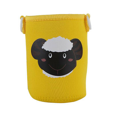 Yellow Sheep Insulated Water Bottle Sleeve Cartoon Drink Bottle Cover Kids