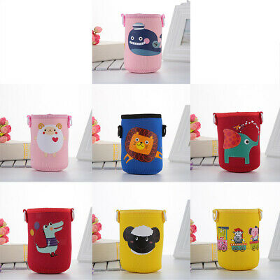 Cartoon Water Bottle Sleeve with Strap for Kettle Neoprene Insulate Pouch