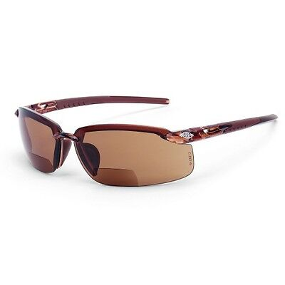 Crossfire Safety Glasses ES5 2911720 Bifocal 2.0x HD Brown Lens Sunglasses