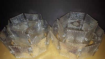 RARE VINTAGE CLEAR  LUCITE MATCHING LIGHT FITTINGS 1 PAIR VGC 24CM x 18CMH