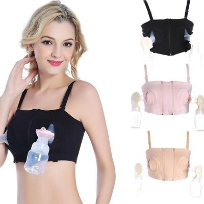 Women Hands-Free Maternity Breast Pump Bra Breastfeeding Nursing Pumping Bra