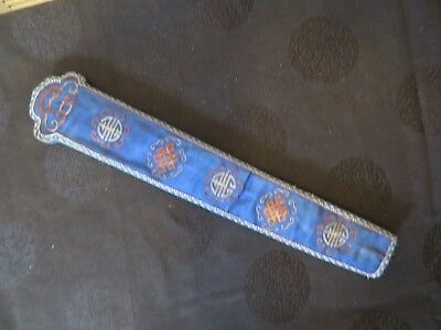 Nice antique Chinese Embroidered Fan Case/Holder