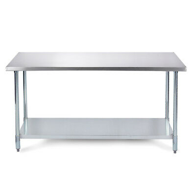 "36"" x 24"" Heavy Duty Industrial Prep Stainless Steel Table w/ Adjustable Legs"