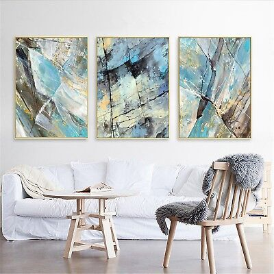 Abstract Art Ink Oil Painting Nordic Silk Canvas Poster Wall Decor A315 Unframed