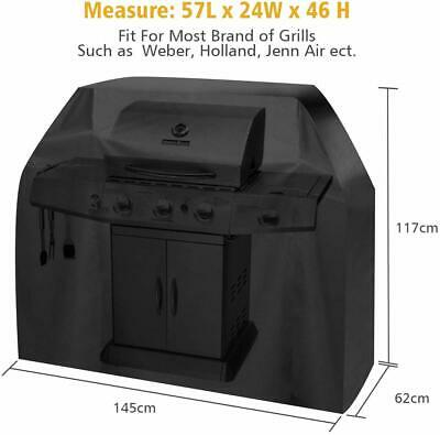 FiNeWaY@ HEAVY DUTY WATERPROOF ELASTIC FITTED BREATHABLE BBQ COVER BARBECUE W X