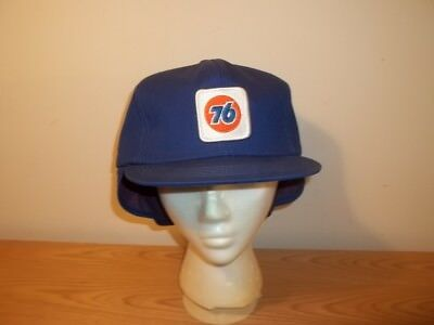 Vtg UNION 76 GAS STATION ATTENDANT FITTED HAT With Ear Neck Collar Flap
