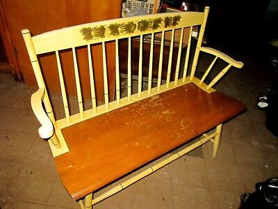 Beautiful Hitchcock Bench Rare Color White