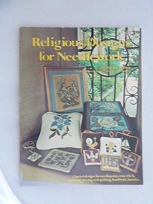 Religious Designs for Needlework Adalee Winter 1977 Oxmoor House Softcover