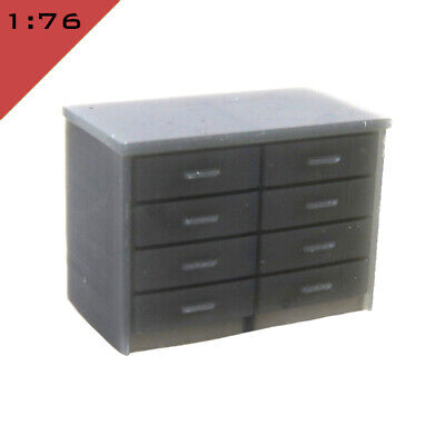 1x 3D printed OFFICE DRAWER UNIT 1:76 'OO' Model Railway Interior Scenery Layout
