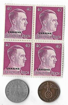 Rare Old WWII WW2 Germany Coin Ukraine Russia Stamp Great War Collection Lot G33