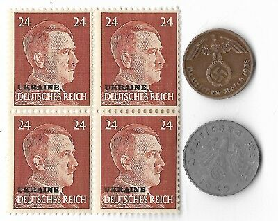 Rare Old WWII WW2 Germany Coin Ukraine Russia Stamp Great War Collection Lot G36