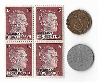 Rare Old WWII WW2 Germany Coin Ukraine Russia Stamp Great War Collection Lot G39