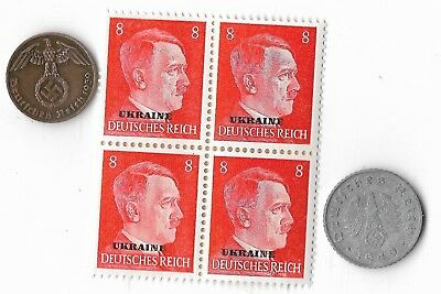 Rare Old WWII WW2 Germany Coin Ukraine Russia Stamp Great War Collection Lot G42