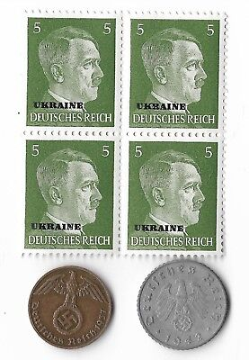 Rare Old WWII WW2 Germany Coin Ukraine Russia Stamp Great War Collection Lot G44