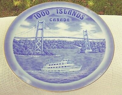 vintage collectible plate 1000 Islands Canada by Sigal Brothers