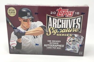 2018 Topps Archives Signature Series Baseball Box (1 Encased Buyback Autograph)