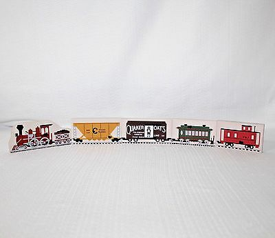 "Faline Cat's Meow  ""F & J Railroad Train"" Shelf Sitters Set Of 5"