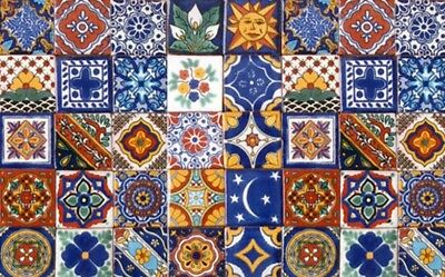 40 Assorted 6x6 Mexican Ceramic Tiles Talavera Handmade Hand Painted Tile #001