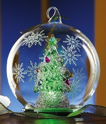 Beautiful Color Changing Christmas Tree Ornament Or Tabletop Decor New In Box