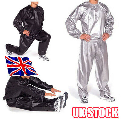 Heavy Duty Sweat Sauna Suit Gym Exercise Training Fitness Weight Loss Anti-Ri Y8