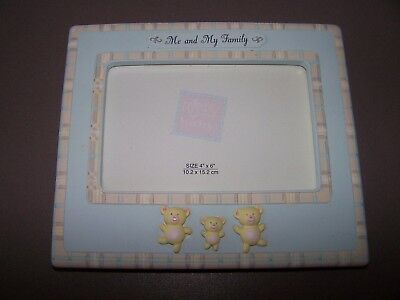 """Sweet Beginnings Message Frame ME AND MY FAMILY - Blue - Russ Baby 4 x 6"""""""
