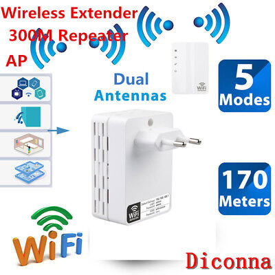 Fashion Wireless Extender WiFi Repeater Signal Booster 300Mbps Network Router