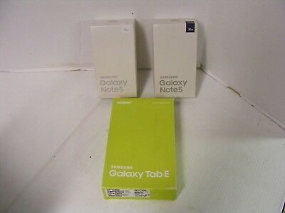 Samsung Galaxy Note 5 Galaxy Tab E BOXES ONLY NO PHONES LOT of 3  FAST SHIPPING