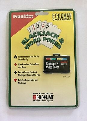 Franklin Bookman Cartridge Blackjack & Video Poker #BJP-2034 New!
