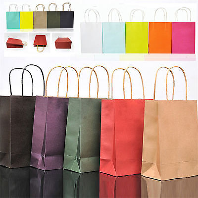 Reusable Kraft Paper Carrier Bag With Handles Wedding Party Treat Gift Loot Bags