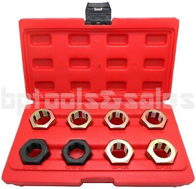 8pc AXLE SPINDLE METRIC & SAE CLEANING/RETHREADING SET KIT 4 FWD VEHICLES